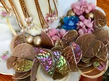 Vintage French Celluloid Findings,Embellishment, Assemblage,Aurora Borealis #352