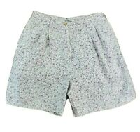 Tommy Hilfiger Womens Size 12 10 Cotton Bermuda Shorts White w Purple Flowers