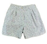 Tommy Hilfiger Womens Size 12 10 Cotton Bermuda Shorts White w Purple Flowers