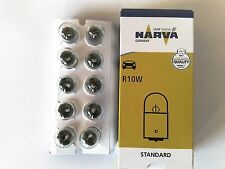 10 Stück Narva Glühlampe Glühbirne Kugellampe  12V 10W BA15s  R10W  B2070a