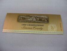 Wine Label: SONOMA COUNTY 1999 Chardonnay