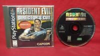 Resident Evil Director's Cut - Playstation 1 2 PS1 PS2 Rare Game - Tested Works