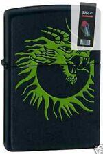 Zippo 1166 dragon black matte DISCONTINUED Lighter + FLINT PACK