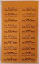 "RARE CANADIAN ""BURKES FALLS DAIRY GOOD FOR ONE QUART HOMO"" FULL SHEET OF COUPONS"
