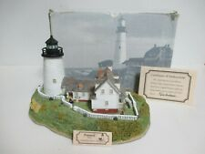 """Harbour Lights """"Pemaquid Point"""" Maine #164 - No. 2041 of 9,500 - Coa w/Tag!"""
