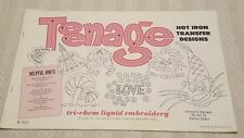 TEENAGE Vintage Tri-Chem Hot Iron Transfer Patterns Book 10 Pages 0670