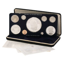 1975 Panama 9 coin Silver Proof Set
