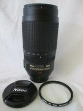 Nikon AF-S Nikkor 70-300mm 1:4.5-5.6G SWM VR ED IF Lens + Caps & Case