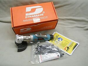 """DYNABRADE 50302 AIR 4"""" RIGHT ANGLE GRINDER 1HP DEPRESSED CENTER WHEEL 12,000RPM"""