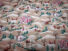 Marcus Brothers Country Christmas Winter landscape Fabric 1 Yard
