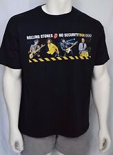 Rolling Stones Band T-Shirt 99 No Security Tour Rock Short Sleeve Mens Size XXL