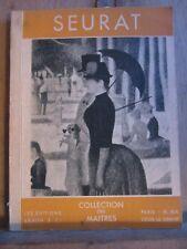 John Rewald: Seurat (1859-1891)/Les éditions Braun & Cie, Collection des Maîtres