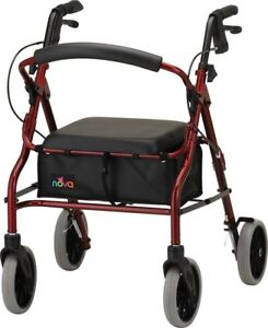 Nova Zoom 20 Foldable Rolling Mobility Walker Rollator - 7 COLOR CHOICE NEW