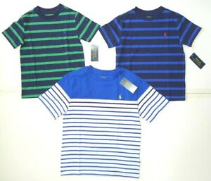 New Polo Ralph Lauren Striped Short Sleeve Crewneck T-Shirt