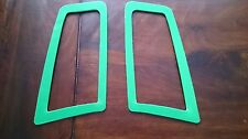 FOCUS RS MK2 STYLE ABS PLASTIC UNDER BONNET VENT TRIM PLATES GREEN HIGH GLOSS