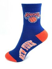 New York Knicks Basketball Royal & Orange Youth Deuce Quarter Socks