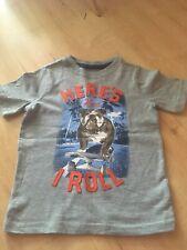 "NWT Gap Fit boy heather gray shirt w//a red hockey player /& puck w///""gap/""; size S"