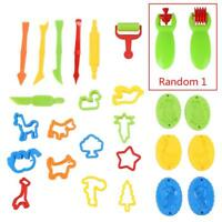 26 X Kids Dough Tools Play Modelling Doh Clay Craft Rolling Pins Cookie Cutters