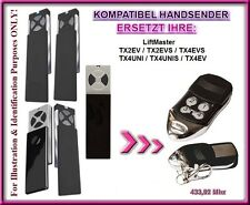 Liftmaster TX2EV, TX4EV, TX2EVS, TX4EVS, TX4UNIS kompatibel handsender, Ersatz