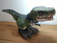 D-Rex T Interactive Robot Dinosaur Pet-Mattel-Works No Remote - May need repair