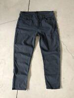 Mother Denim 29x27 The Dropout Jeans Boyfriend Blue Grey 30 Looker Rascal Crop