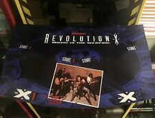 Revolution X Arcade Control Panel Overlay CPO Aerosmith RevoX Revo X Midway