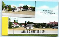 Travelers Rest Motor Court Motel Near Augusta Georgia GA Vintage Postcard D69