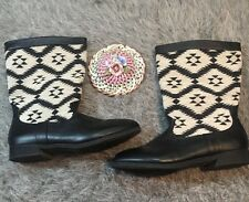 Rampage Aztec Midwestern Print Franco Boots Black And White Size 10 M
