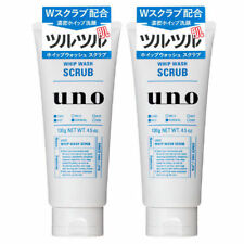 ( Set of 2 ) Shiseido UNO Whip Wash Scrub Face Cleansing Facial Foam Cleanser