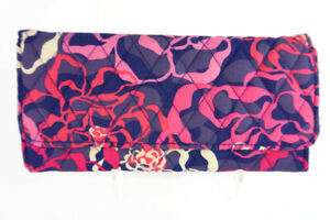 Authentic Vera Bradley Katalina Pink Fabric Trifold Wallet---NWT