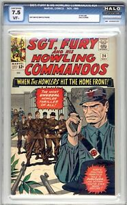 Sgt. Fury And His Howling Commandos #24 HALO Graded 7.5 (VF-) 1965 - Silver Age