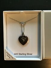 New Double Heart 925 Sterling Silver Necklace.