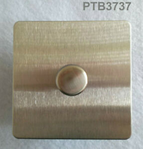 GET ULTIMATE SCREWLESS FLAT PLATE 400W 1 GANG 2WAY PUSH DIMMER STAINLESS STEEL