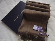 Rare Very Soft NWT Polo Ralph Lauren Purple Label 100% Cashmere Scarf Italy