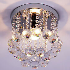 Crystal Spiral Chandelier Ceiling Light Fixture Hanging Pendant Lamp