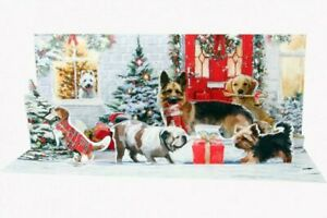 NIP Up With Paper Pop-Up Panoramic Christmas Card - Holiday Dogs