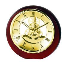 Mini Rond Squelette Horloge Mantel avec chromé lunette SKC17 Neuf