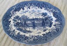 "J.  & G.  Meakin Romantic England Igntham Mote 12"" Oval Serving Platter"