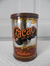 Boite métal Cacao Poulain Vintage Années 80 / vintage box