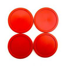 "4 Red Air Hockey Pucks Replacement 2.5"" Discs Accessories Equipment Games"