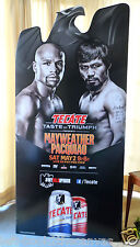 """FLOYD MAYWEATHER JR v MANNY PACQUIAO official cardboard standup display 33 x 70"""""""