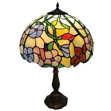 30cm Spring Flower Stained Glass Tiffany Table Lamp RM21 CR6012TL