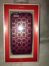 Coach Signature C MAGENTA iPhone 5 Hard Cover Case new
