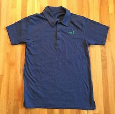 L TOWN SURF & EARTH Polo Shirt Blue Small Organic Cotton Recycled Short Sleeve
