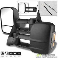 SMOKE Lens LED Signal 99-07 Silverado Tahoe Towing Manual Side Mirror Left+Right