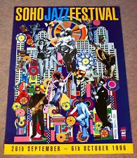 SMALL ORIGINAL PAOLOZZI POP ART POSTER - 1996 SOHO JAZZ FESTIVAL - 70 X 50 CM.
