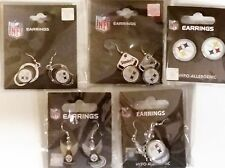 Silver Collection Lot 5 Pittsburgh Steelers Dangle Earrings Jewelry Set