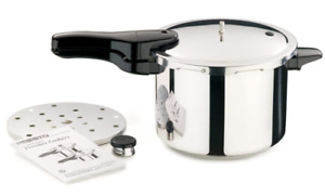 Presto  Polished Stainless Steel  Pressure Cooker  6-Quart NEW