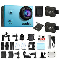 WiMiUS 4K Sport Action Camera HD 1080P 16MP WIFI Waterporoof Cam Camcorder Blue