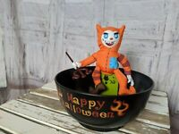 Gemmy devil candy bowl AS IS Halloween decor